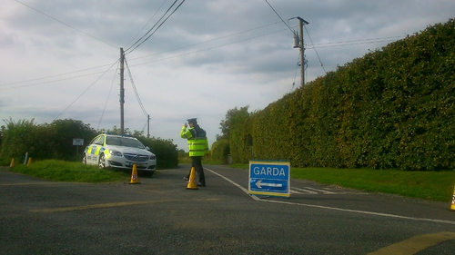 Gardaí say the car carrying the three men was involved in a crash with another car