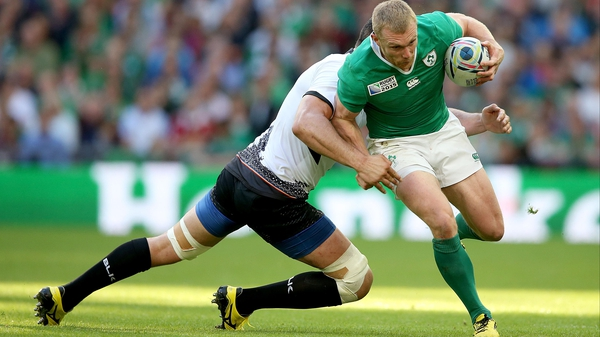 Keith Earls scored two tries for Ireland