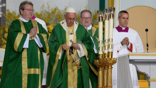 Pope Francis made the announcement at an open-air mass in Philadelphia