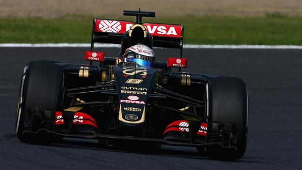 Lotus' Romain Grosjean in action during the Formula One Grand Prix of Japan