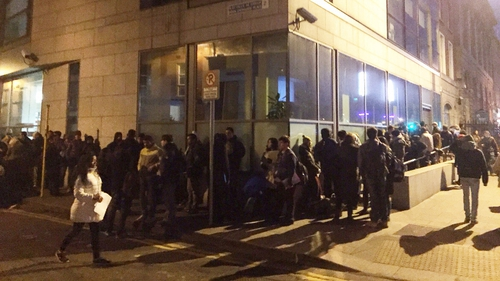 Overnight and early morning long queues for visas have been a regular sight on Burgh Quay