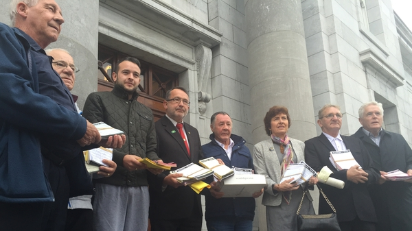 The People's Convention has protested regularly outside Monday night meetings of Cork City Council