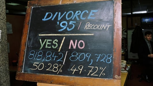 Ireland has one of the lowest rates of divorce in Europe