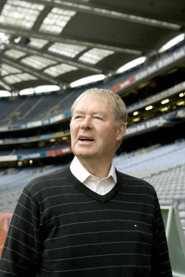 Mícheál Ó Muircheartaigh in Croke Park 2010