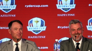 Davis Love III leads the US team against Europe captain Darren Clarke