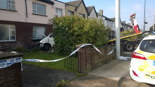 The incident resulted in extensive damage to the van and the house