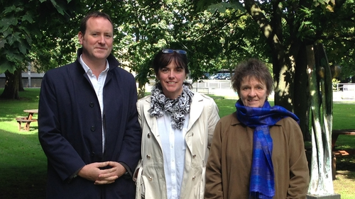 Book publicist Cormac Kinsella, writers Katy Hayes and Evelyn Conlon, who were the judges of this year's Francis McManus Short Story Competition.