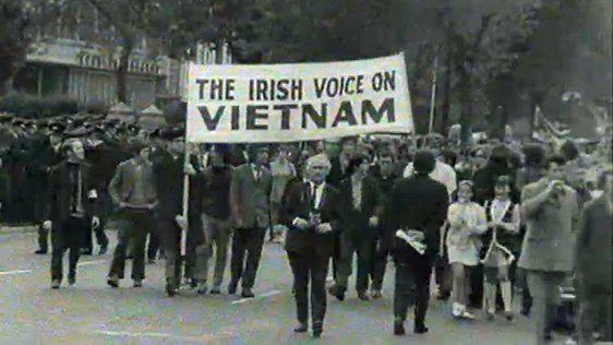 Anti Nixon Protest in Dublin (1970)