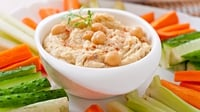 Hummus  - A delicious and nutritious snack, perfect with carrot sticks, celery or toasted pitta bread.