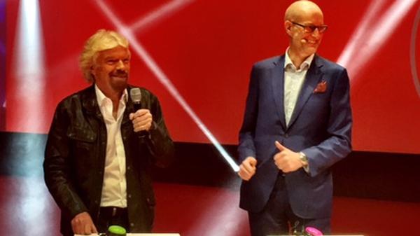 Virgin group founder Richard Branson was in Dublin today for news of the UCP rebranding