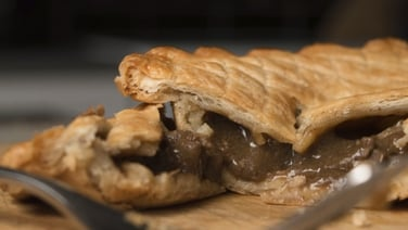 Steak & Mushroom Pie - Steak and mushroom is one of those comforting dishes that will always leave the family satisfied.