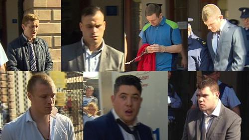 Top L-R: Patrick Gately, Michael McDonagh, Dean Byrne, Donal O'Hara. Bottom L-R: Thomas Flynn, Patrick Joyce, John Joyce
