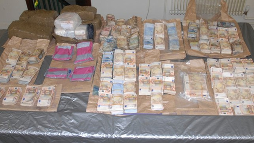 It was the largest ever seizure of cash from the proceeds of crime in the history of the State