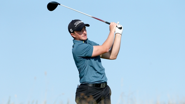Paul Dunne in action on the Old Course at St Andrews