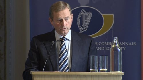 Taoiseach Enda Kenny unveiled the comprehensive strategy today at Farmleigh in Dublin