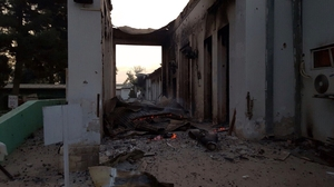 A suspected US airstrike killed at least 19 people at the hospital