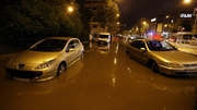 Heavy flooding along the Cote d'Azur saw the River Brague burst its banks