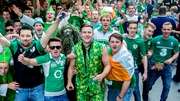Ireland fans gather before the match
