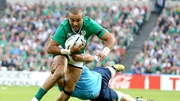 Simon Zebo on the attack