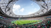 Irish fans dominating at the Olympic Stadium