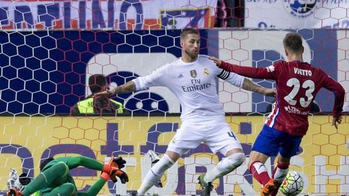 Luciano Vietto slots home Atletico's leveller