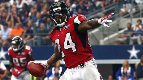 Devonta Freeman was in sizzling form for the Atlanta Falcons
