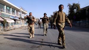Afghan forces seen in Kunduz last month