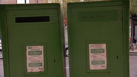 Postboxes in Dublin