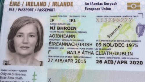The passport cards are valid for five years and come at a cost of €35