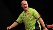 Michael van Gerwen beat Keegan Brown 2-1 in Citywest (pic: Lawrence Lustig/PDC)