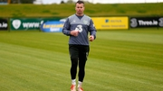Shay Given training at Abbotstown this morning