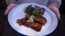 Pork Schnitzel with Sage Butter