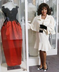Joan Collins unveils exhibition at Newbridge