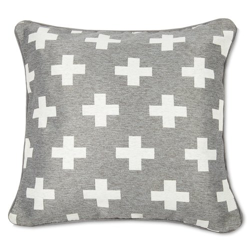 Grey and white cushion, €8