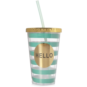 Metallic Cup With Straw, €3.