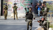 Israeli soldiers seen during clashes in the West Bank town of Bethlehem