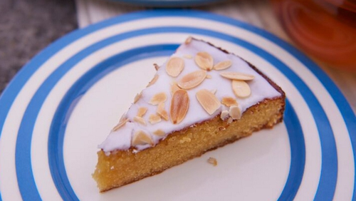 As delicious as it looks - Rachel Allen's Honey and almond cake. Serves 6-8