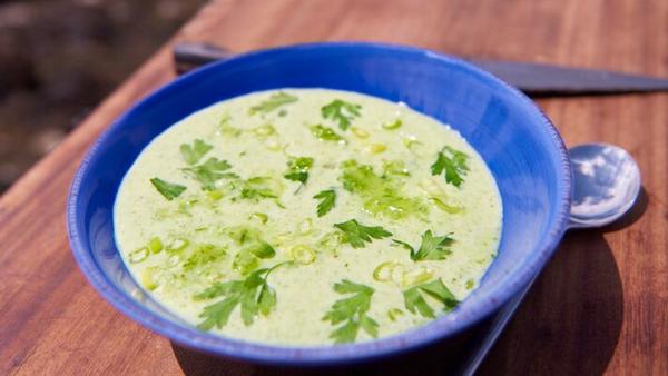 Rachel Allen's Raw Cucumber Soup. Serves 4 as a starter.