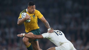 Israel Folau in action against England