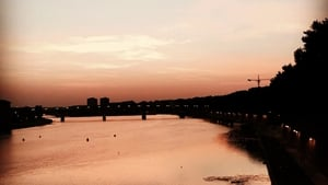 Toulouse as the sun goes down