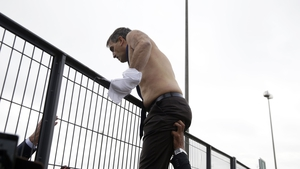 Pictures of senior Air France officials with their shirts ripped and torn off all over world media today