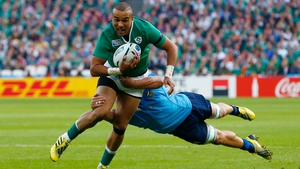 Simon Zebo has started Ireland's last two matches at full-back
