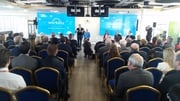 Taoiseach Enda Kenny at the jobs announcement this morning