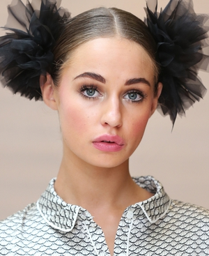 Thalia Heffernan sporting the make-up look at the Brown Thomas lingerie show