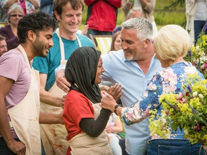 The moment when Nadiya was crowned GBBO champ. Pic: BBC/Love Productions