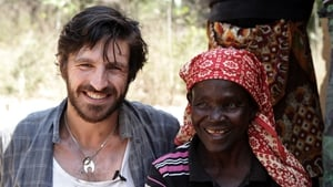 Irish actor Eoin Macken with Agira Ricardo. Credit: Tim McDonnell Sightsavers