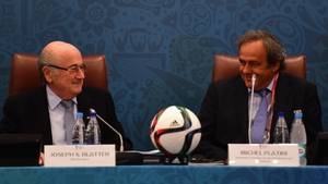 Sepp Blatter (L) and Michel Platini
