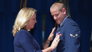Spencer Stone was awarded a Purple Heart for his actions