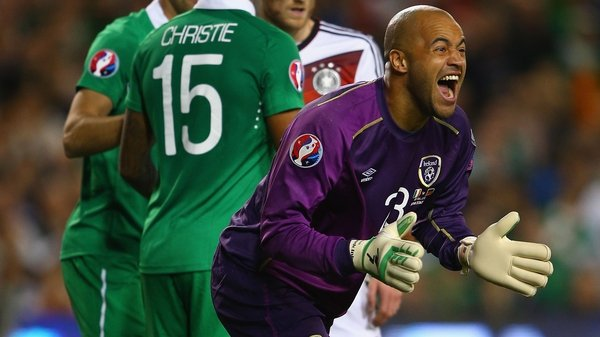 Darren Randolph during the Republic of Ireland's win over Germany