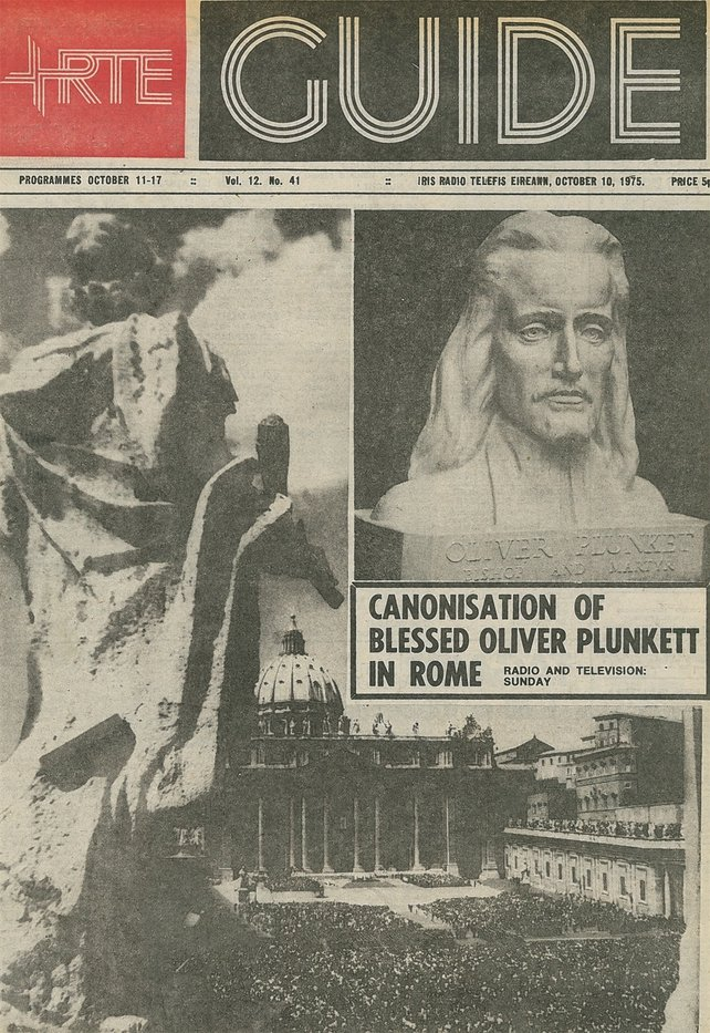 RTÉ Guide Cover Oliver Plunkett Canonised